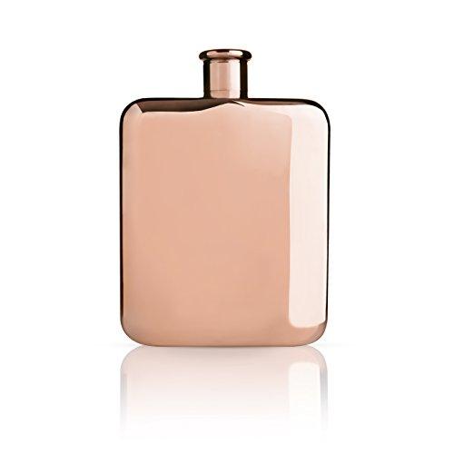 Viski 4891 Summit Flasks, 6 oz, Copper
