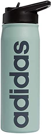 adidas 18 8 Stainless Steel Straw Top Metal Water Bottle Green Hazy Green Onix Black 600 ml product image
