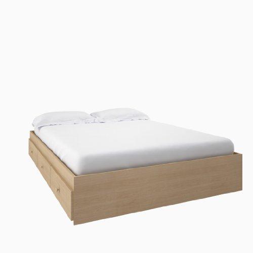 Alegria Full Size Storage Bed from Nexera, Natural Maple