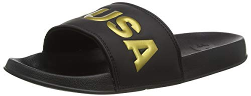 DC Shoes Dc Slide Se, Scarpe da Spiaggia e Piscina Donna, Nero (Black/Gold Bg3), 36 EU
