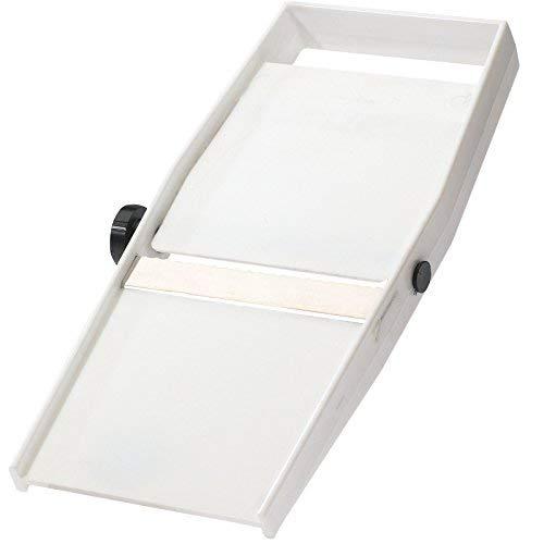 Westmark 10652270Cortador de Verduras/–Laminador con Ajustable Grosor de Corte, Filo Ondulado, Acero Inoxidable, Color Blanco/Plata, 15.7x 10.6x 8cm