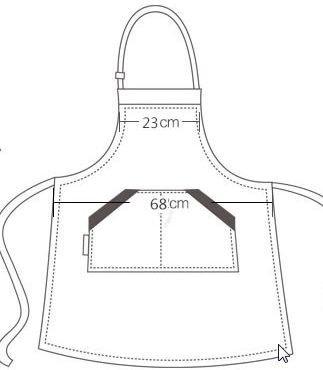 『【SACHIHARE】シンプル カフェエプロン エプロン 美容室 ネイルサロン 保育士 男女兼用 フリーサイズ 黒色 ブラック』の3枚目の画像