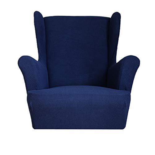LOVIVER Stretch Ohrensessel Bezug Sofabezug Stretch Couchbezug Sesselbezug Elastischer rutschfest Sofahusse - Dunkelblau