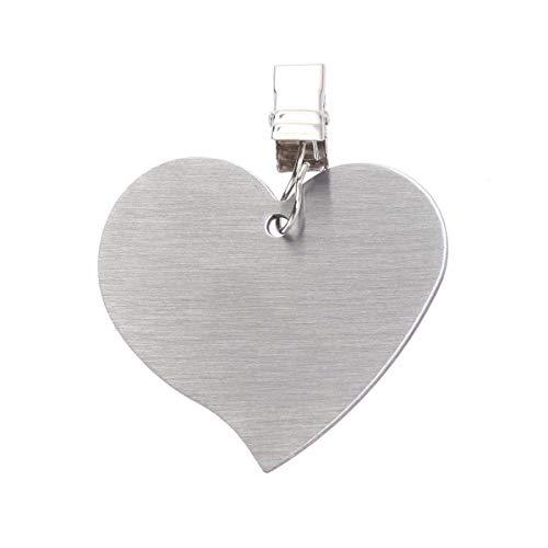BESTonZON 6pcs Pince de Nappe en Acier Inoxydable Pince de Couverture de Nappe en Forme de Coeur (Argent)