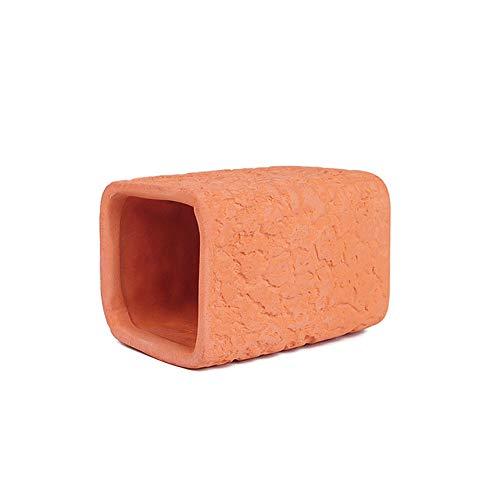 Sobotoo Hamster-Spielzeug aus Keramik, Schlaftunnel, kühlendes Versteck für Zwerghamster, Meerschweinchen, Chinchillas, Rennmäuse, Ratten