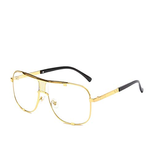Gafas de Sol Sunglasses Nuevas Gafas De Sol De Montura Grande De Moda para Hombre, Gafas De Conduccin Cuadradas para Mujer, Gafas De Sol Retro, Sombras C