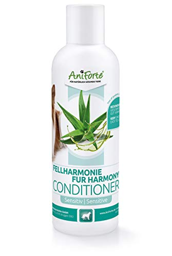 AniForte Fellharmonie Sensitiv Conditioner für Hunde 200ml - Hund Conditioner, Spülung für Langhaar & Kurzhaar, Fellpflege & Schutz mit Aloe Vera, Anti Filz, Fell Pflege ohne Farbstoffe & Parfum
