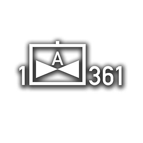 Copytec Heeresflieger 1 Fliegende Abteilung 361 Taktische Zeichen Bundeswehr Aufkleber für Unimog Benz G Modell Wolf Kampfhubschrauberregiment 36 Fritzlar (weiß,14 x 32cm) - Aufkleber/Sticker #A598