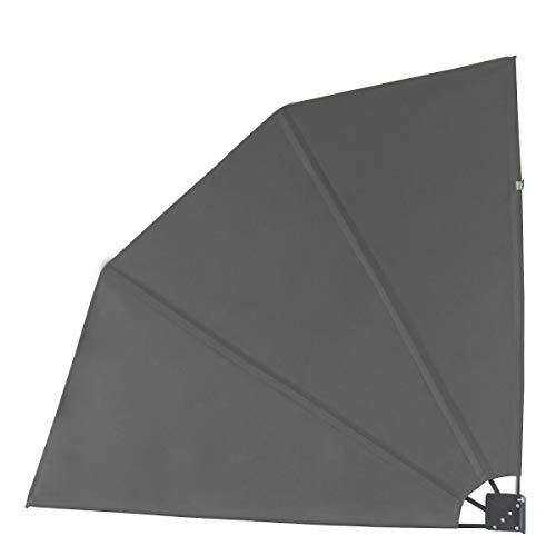 YJYDD Balkonfächer Seitenmarkise 160x160cm Trennwand Sichtschutz Dunkelgrau