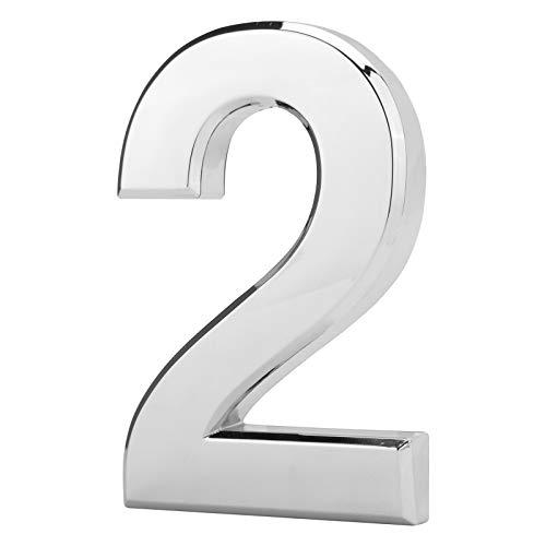 LUTER 12cm 3D Buzón Número 0-9, Impermeable Autoadhesivo Puerta de la Casa...