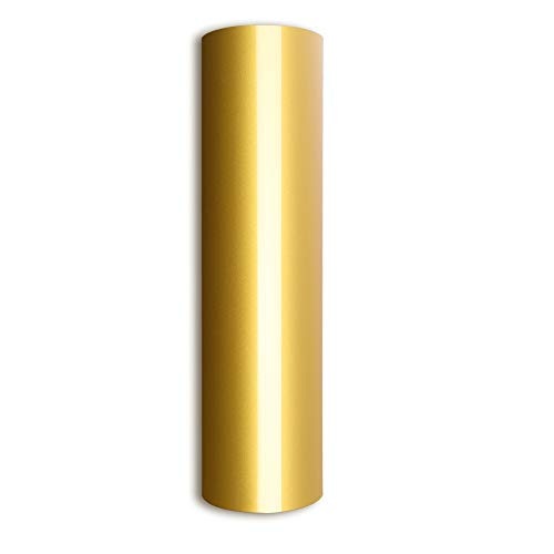 Gold Heat Transfer Vinyl Iron On HTV 10 X 5 Roll for T-Shirts & Clothing and Fabric,Gold HTV