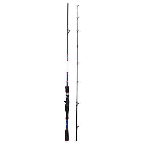 Anti-Aging-Angelrute mit Pikestaff, leicht zu tragende Abschnitte Locken Angelrute, Angler für Angelbegeisterte(1.83m MH Handle Casting)