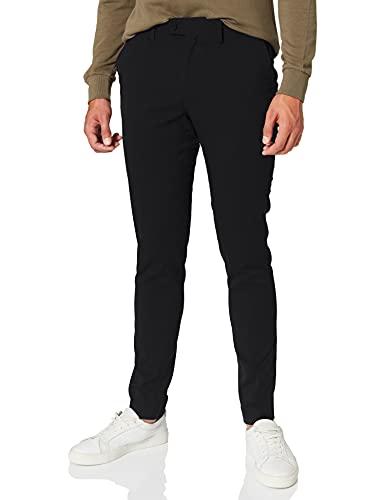 CASUAL FRIDAY Męskie spodnie do garnituru, czarny (Black 50003), 48W x 32L