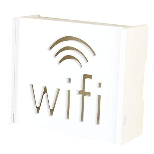Pinpig Cajas de Almacenamiento de enrutador WiFi de Montaje en Pared Creativas Cajas Decorativas para Colgar en la Pared para contenedor de enrutador en Rack de Almacenamiento de Cables
