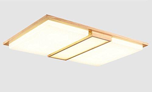 GRY Nordic Massivholz Led Deckenleuchte, hohe Lichtdurchlässigkeit Lampenschirm Stilvolle Holzdeckenleuchte (weißes Licht),* 1 *
