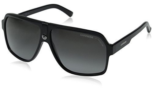 Carrera CA33/S Pilot Sunglasses, Black Frame/Gray Gradient Lens, 62 mm