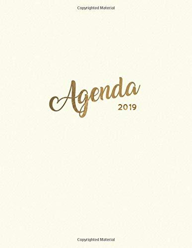 Agenda 2019: Semanal Diario Organizador Calendario Crema de Lim: 10