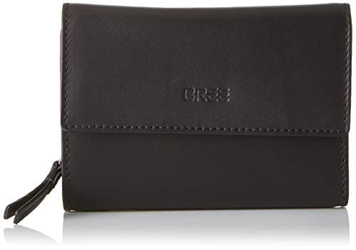 BREE Collection Damen Liv New 110, Long Purse Geldbörse, Schwarz (Black Smooth), 2.5x10x14.5 cm