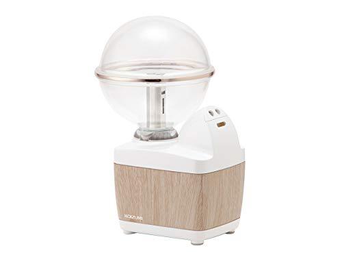 コイズミ 超音波式 小型 加湿器 アロマ対応 LEDイルミネーション 木目調 ホワイト KHM-1093/MW