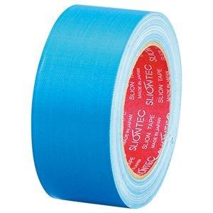 (まとめ) スリオンテック 布粘着テープ No.3390 50mm×25m ライトブルー No.3390-50LB 1巻 【×10セット】