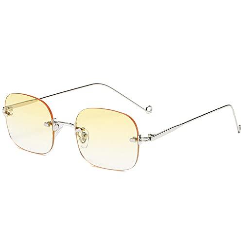 Gafas de sol cuadradas sin montura para mujer, gafas de sol para hombre, UV400, muy adecuadas para correr, escalar, ciclismo, motocicletas