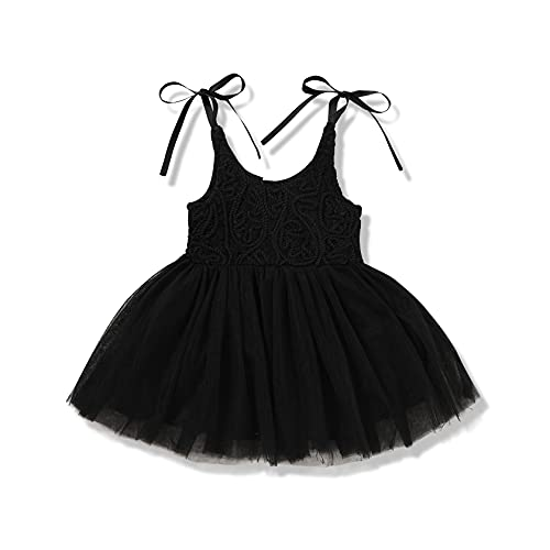 Newborn Baby Girl Clothes Lace Party Princess Dresses Layered Tulle...