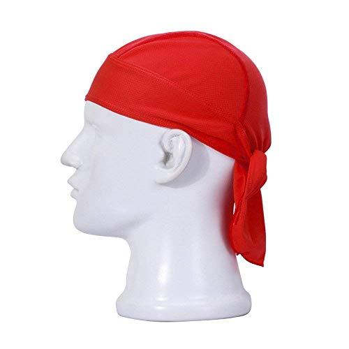 HASAGEI Sports Bandana Cap Herrem Damen Biker Bandanas Kopftuch Hat - Rot