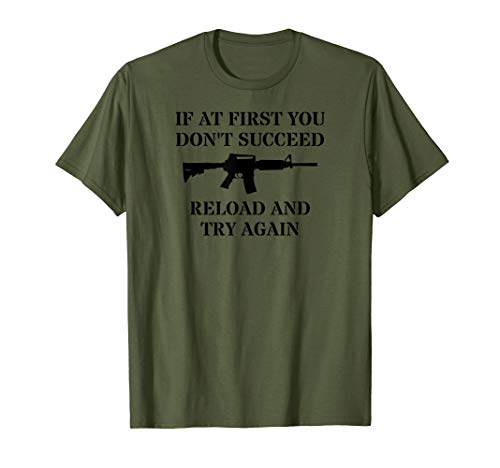AR 15 Reloading Rifle Accessories Tactical AR 15 Upper T-Shirt