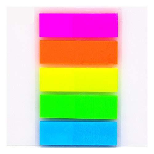 FENCHUN Nota Papel - Color de Fluorescencia Memo Auto Adhesivo Pad Sticky Notes Bookmark Point IT Marker Memo Sticker Paper Office Suplementos Escolares (Color : 2)