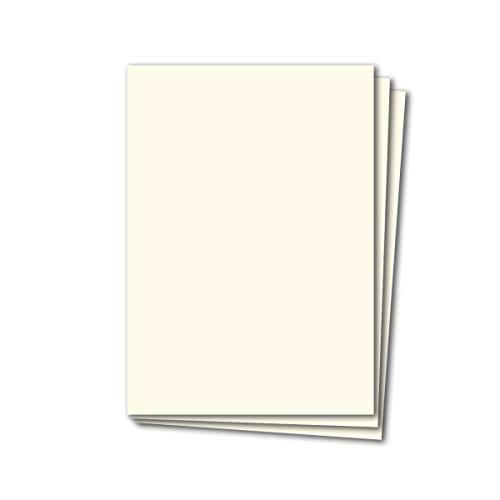50 Blatt Tonkarton DIN A4 - Creme - 240 g/m² dicker Bastelkarton - 21,0 x 29,7 cm Pappe zum basteln für Fotoalbum Menükarte Bedruckbar DIY kreativ sein