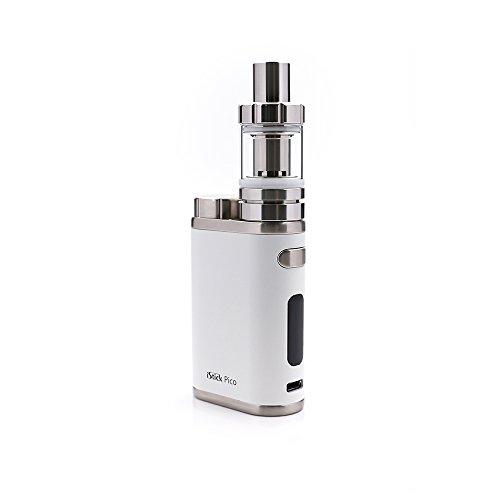 E Zigarette, Eleaf iStick Pico 75W TC Full Kit, Vape Kit with TC Mod Box, Riesiger Dampf Elektronische Zigarette Kit, Keine Flüssigkeit, Kein Nikotin (weiß)