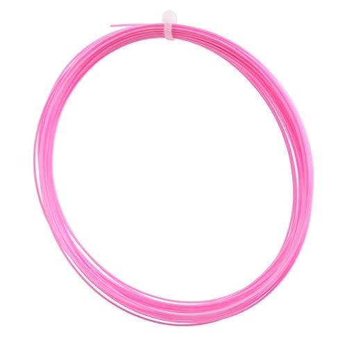 QQWA Robuste Badminton-Saite, 10M Badminton-Schläger-Saite Nylonschläger Line Gym Sport-Trainingszubehör, Pink