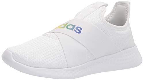 adidas Women's Puremotion Adapt Running Shoes, White/White/Grey, 6