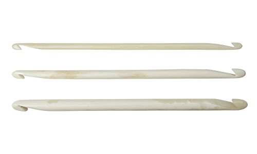 Nirvana Needle Arts 4' Bone Double Ended Crochet Hooks - Pack of 3