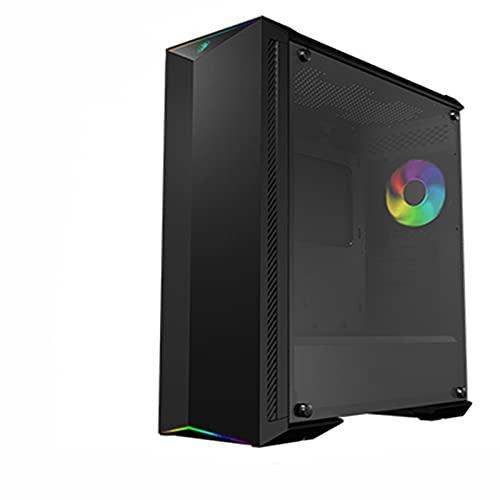 WSNBB Caja De PC,Caja De La Computadora, Lado RGB De La Computadora De Escritorio A Través De La Caja De La Fuente De Alimentación ATX, Placa Base Aplicable: E-ATX/ATX/MATX/Mini-ITX