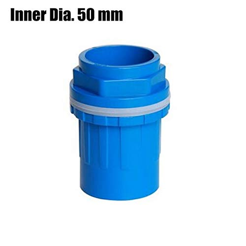Bureau 2 stks I. D 50mm Fish Tank PVC Water Connectors Loodgieter Drainage Connector Verlengd Aquarium Overflow Buisverbinding