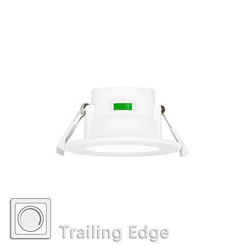 Lampara Plafone Foco Empotrable de LED Empotrar en Techo Downlight LED 8W Regulable Luz Calida y Fria Ajustable Diámetro del Agujero Techo 70-85MM Lot de 1 de Enuotek