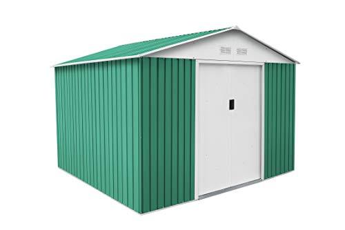 Gardiun Metal Garden Shed Bristol (Green) 7, 74M² Ext