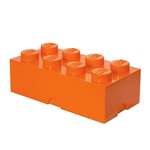 LEGO Aufbewahrungsstein, 8 Noppen, Stapelbare Aufbewahrungsbox, 12 l, orange