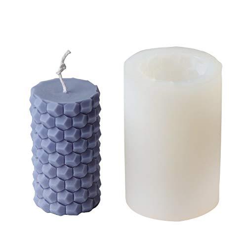 Molde de silicona con diseño de panal de abeja para fundir velas, molde para hacer velas DIY Pudding Candle Mold Set de moldes de silicona 3D hechos a mano para niños