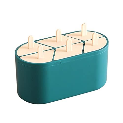 SONG 6 Moldes de Helado de células Moldes de paletas Popsicle Moldes Reutilizables DIY DIY Postre congelador congelado Jugo de Frutas Hijo Herramientas de Fabricante de Hielo (Color : Green)