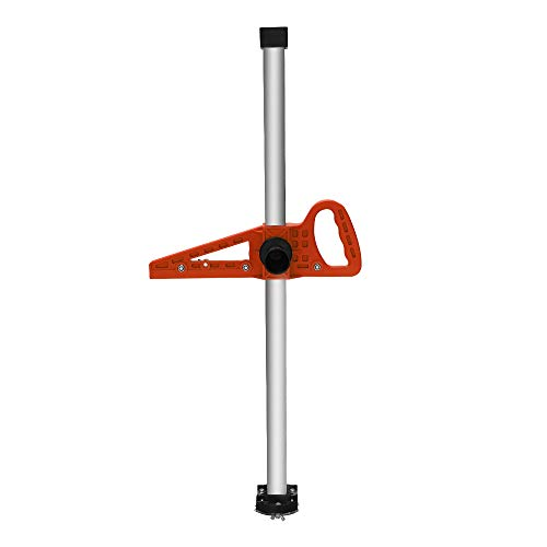 KKmoon Manual High Accuracy Portable Gypsum Board Cutter Hand Push Drywall Cutting Artifact Tool with Double Blade and 4 Bearings 20-600mm Cutting Range,Orange