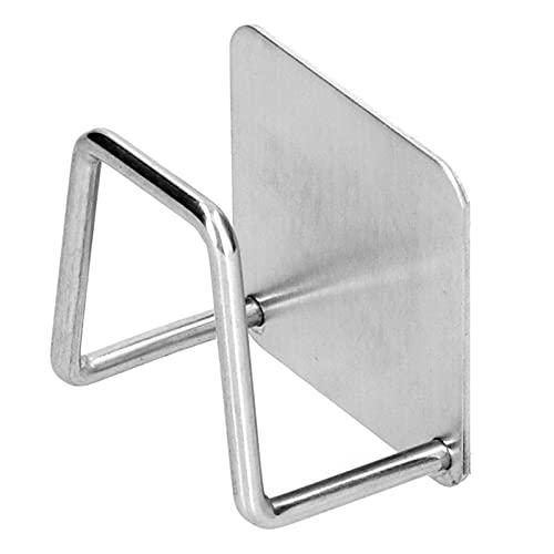 Organizador de succión para fregadero de cocina, soporte de esponja para fregadero de acero inoxidable, 4,8 x 4,8 x 3 cm, estante para colgar en la pared, fácil de instalar, para cocina, baño, sala de