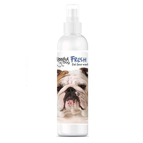 The Blissful Dog Fresh Flat Face Wash - Cleans Facial Folds and Wrinkles, 4-Ounce, Bulldog, White (FFF-4OZ-BULLDOG)