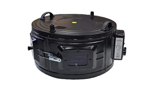 Horno eléctrico redondo sin termostato y con bandeja de horno, 32 litros,...