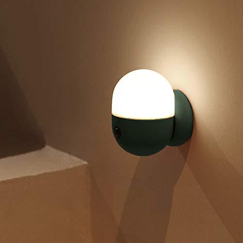 YanBei LED Nachtlicht mit Bewegungsmelder, LED Bewegungssensor Licht,Kinder Baby Nachtlampe,USB Aufladbare Nachtlampe,Für Flur,Schrank,Treppenhaus,Kabinett, Wohnzimmer,Badezimmer,Schlafzimme. (Grün)