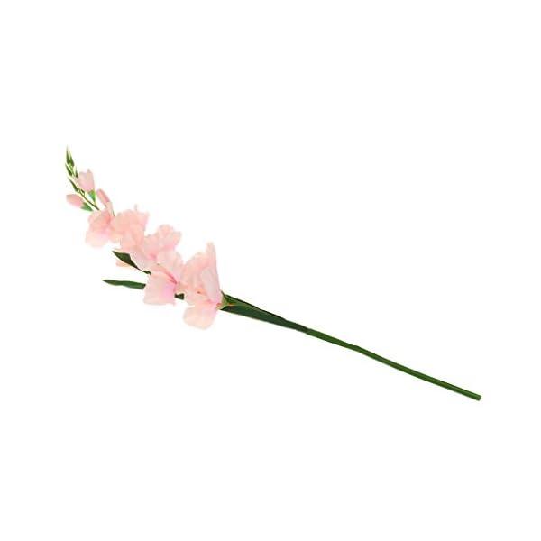 joyMerit 4 Piezas De Flores De Gladiolo Artificial Hoja Decoración De La Boda En Casa Multicolor-01