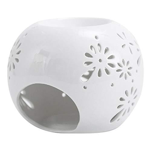 Quemador de Incienso Hueco de Porcelana Blanca Quemador de Incienso Velas e Incienso Quemador de Incienso titulares de Aire Limpio Inicio aromaterapia (Color : White)