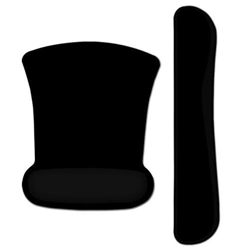 Tastatur Handgelenkauflage Pad Ergonomisches Mauspad, ToLuLu Mausmattencomputer, rutschfester Mauspad Tastatur Handgelenkstütze Memory Foam für einfaches Tippen und Schmerzlinderung, Normalschwarz