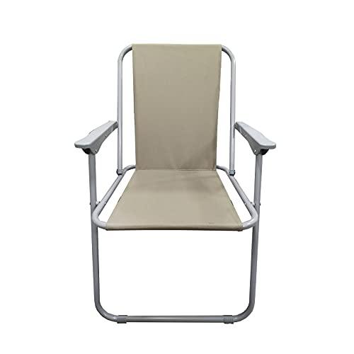 EUROXANTY Strandstuhl | Stuhl für den Außenbereich | Salzwasserresistent | Stoffstuhl | Sonnenschutz | Beige